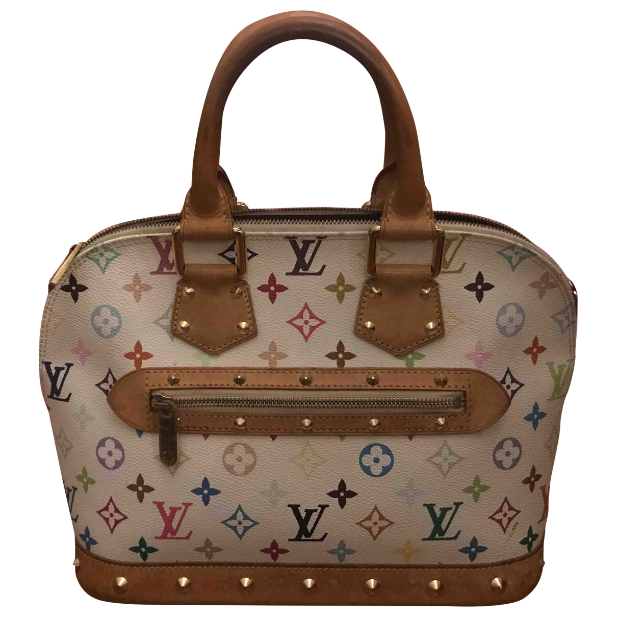 Louis Vuitton Alma White Cloth handbag for Women \N