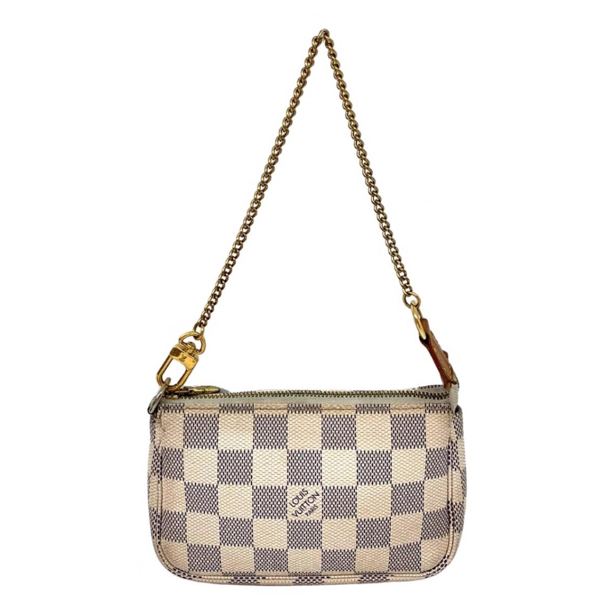 Louis Vuitton Pochette Accessoire White Cloth Clutch bag for Women \N