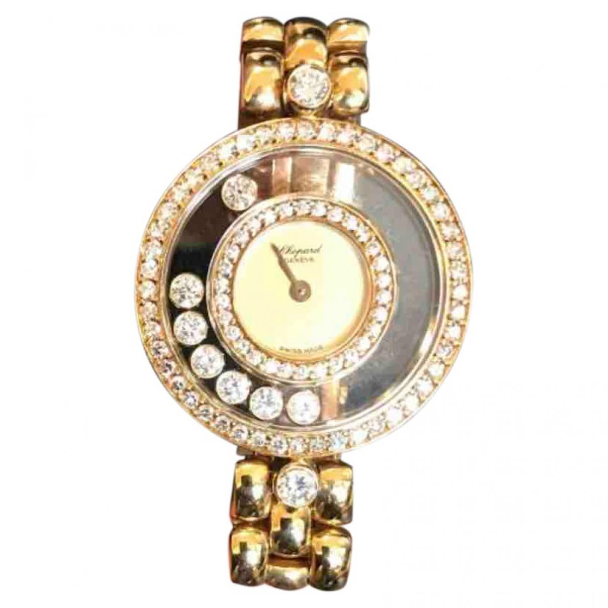 Chopard - Montre Happy Diamonds pour femme en or jaune - dore
