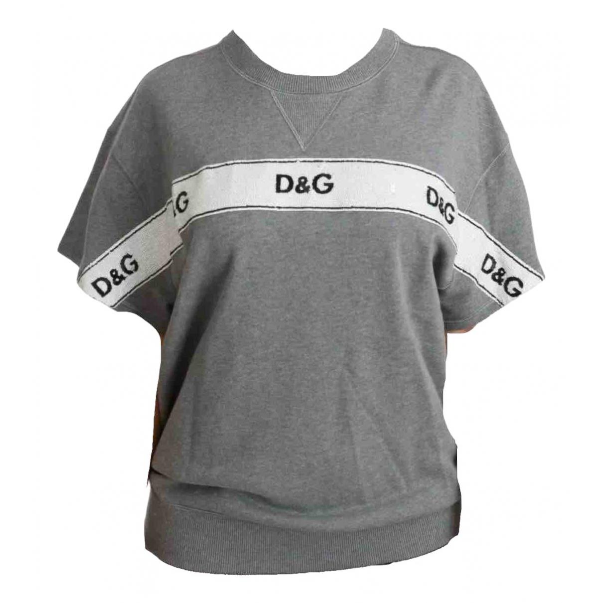 Dolce & Gabbana - Pull   pour femme en coton - gris