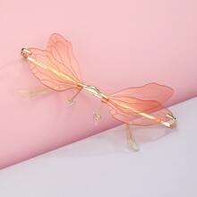 Gafas de sol sin montura en forma de ala de libelula