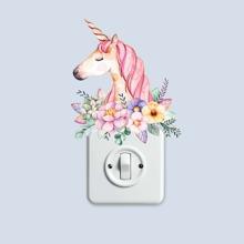 Unicorn Print Light Switch Sticker