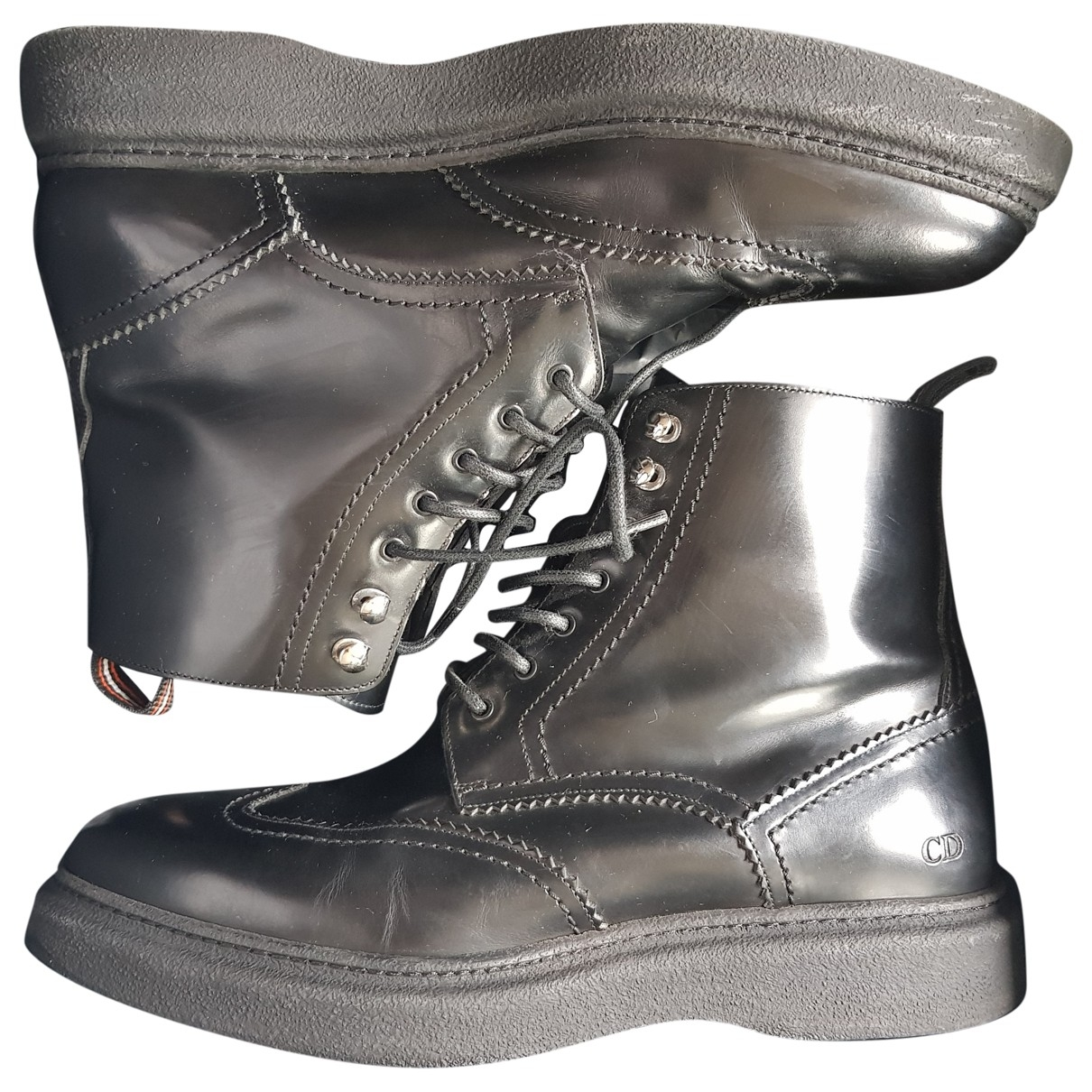 Dior \N Black Leather Boots for Men 42.5 EU