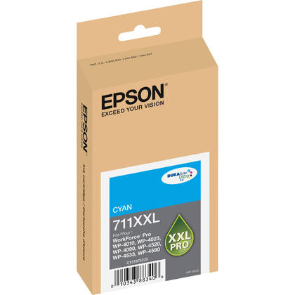 Epson 711XXL T711XXL220 Original Pigment Cyan Ink Cartridge