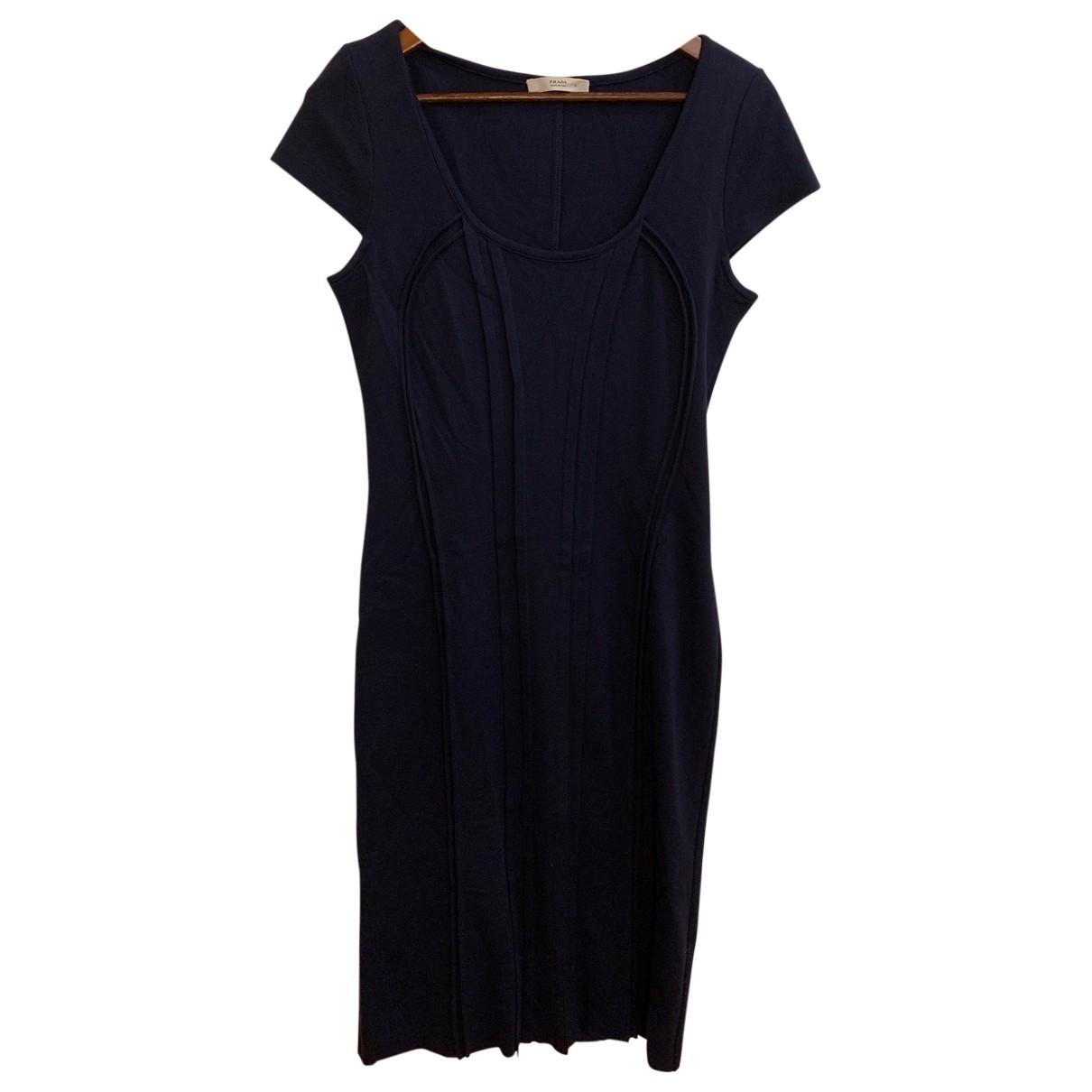 Prada \N Blue Cotton dress for Women L International