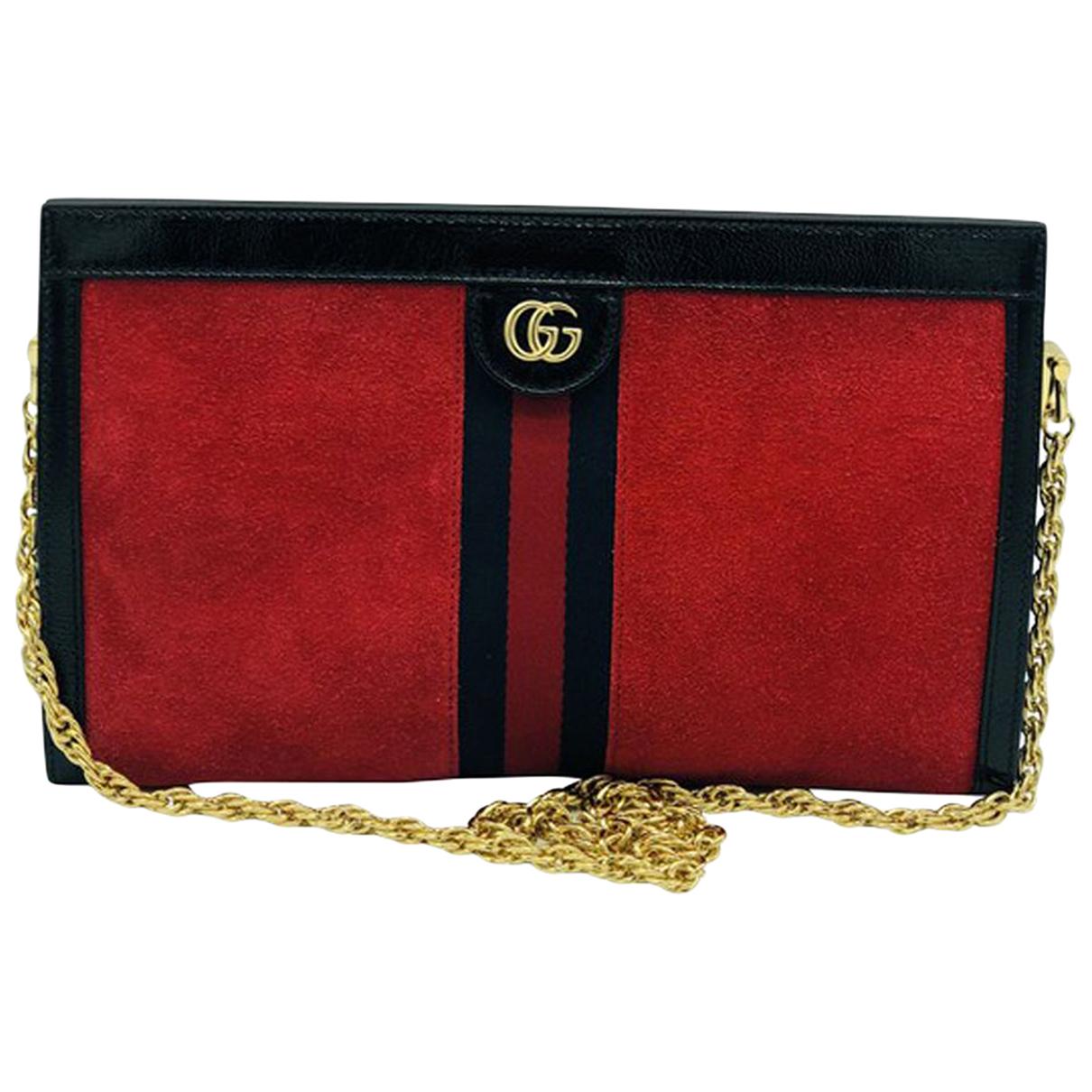 Gucci - Pochette Ophidia pour femme en suede - rouge