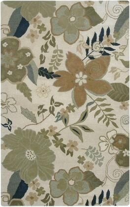 PANPR174000200810 Pandora PR1740-8' x 10' Hand-Tufted Hard + Fine-Twist New Zealand Wool Blend Rug in white  Rectangle