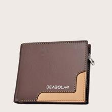 Maenner Brieftasche mit Farbblock