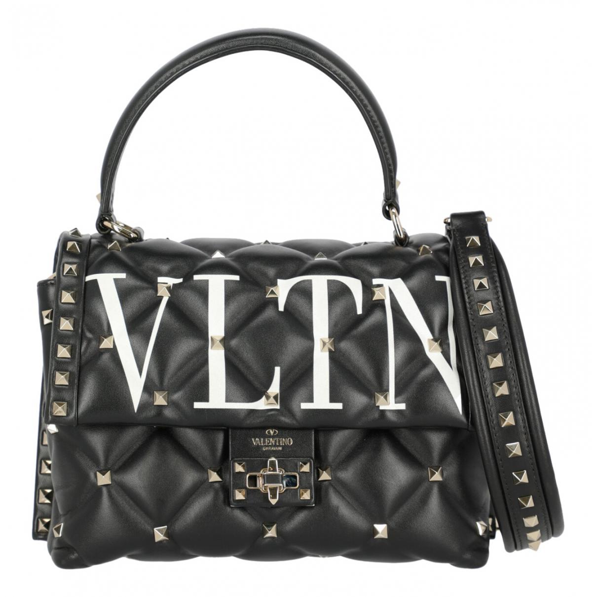 Valentino Garavani CandyStud Handtasche in  Schwarz Leder
