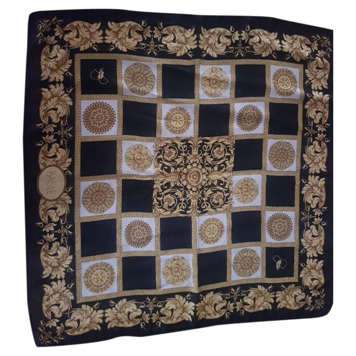 Basile \N Black Silk scarf for Women \N