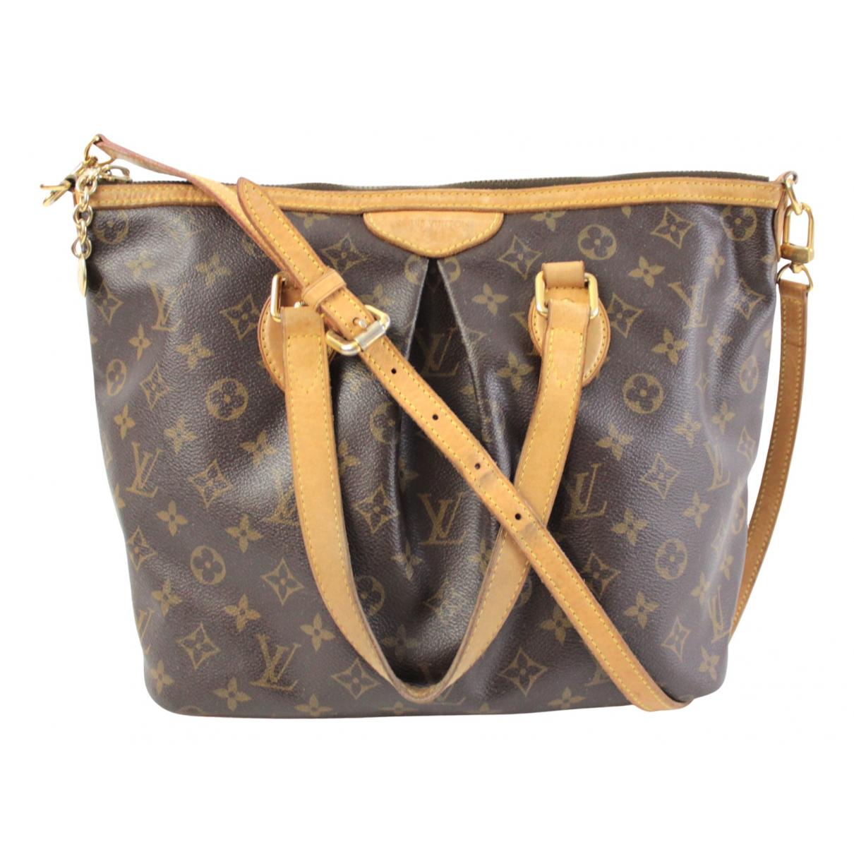 Louis Vuitton - Sac a main Palermo pour femme en toile - marron