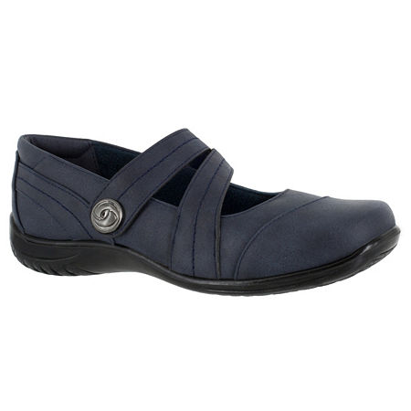 Easy Street Womens Mary Slip-On Shoe, 6 1/2 Wide, Blue
