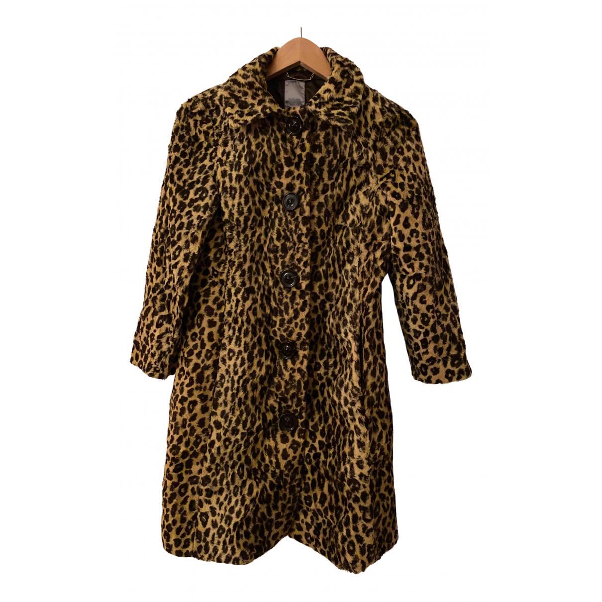 Mango - Manteau   pour femme en fourrure synthetique - camel