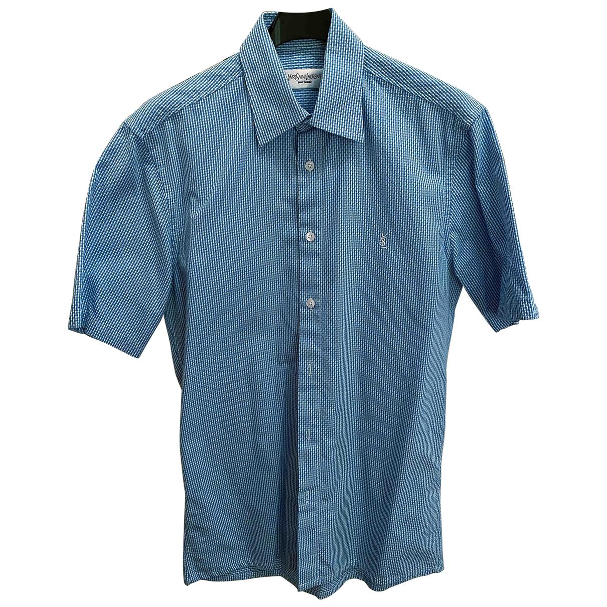 Yves Saint Laurent \N Hemden in  Tuerkis Baumwolle
