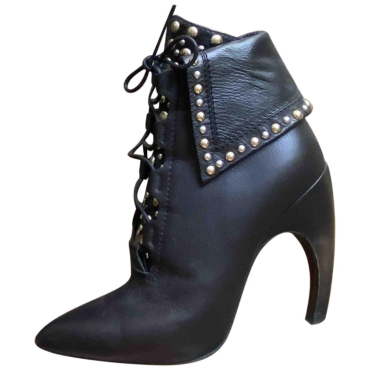 Givenchy - Boots   pour femme en cuir - marron