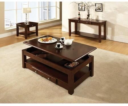 Nelson Collection NL300CLC 26 Cocktail Table with Bottom Storage Drawer  Lift Top and Casters on Leg in Cherry
