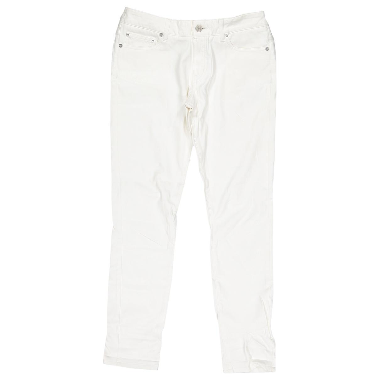 Saint Laurent \N White Cotton Jeans for Women 30 US