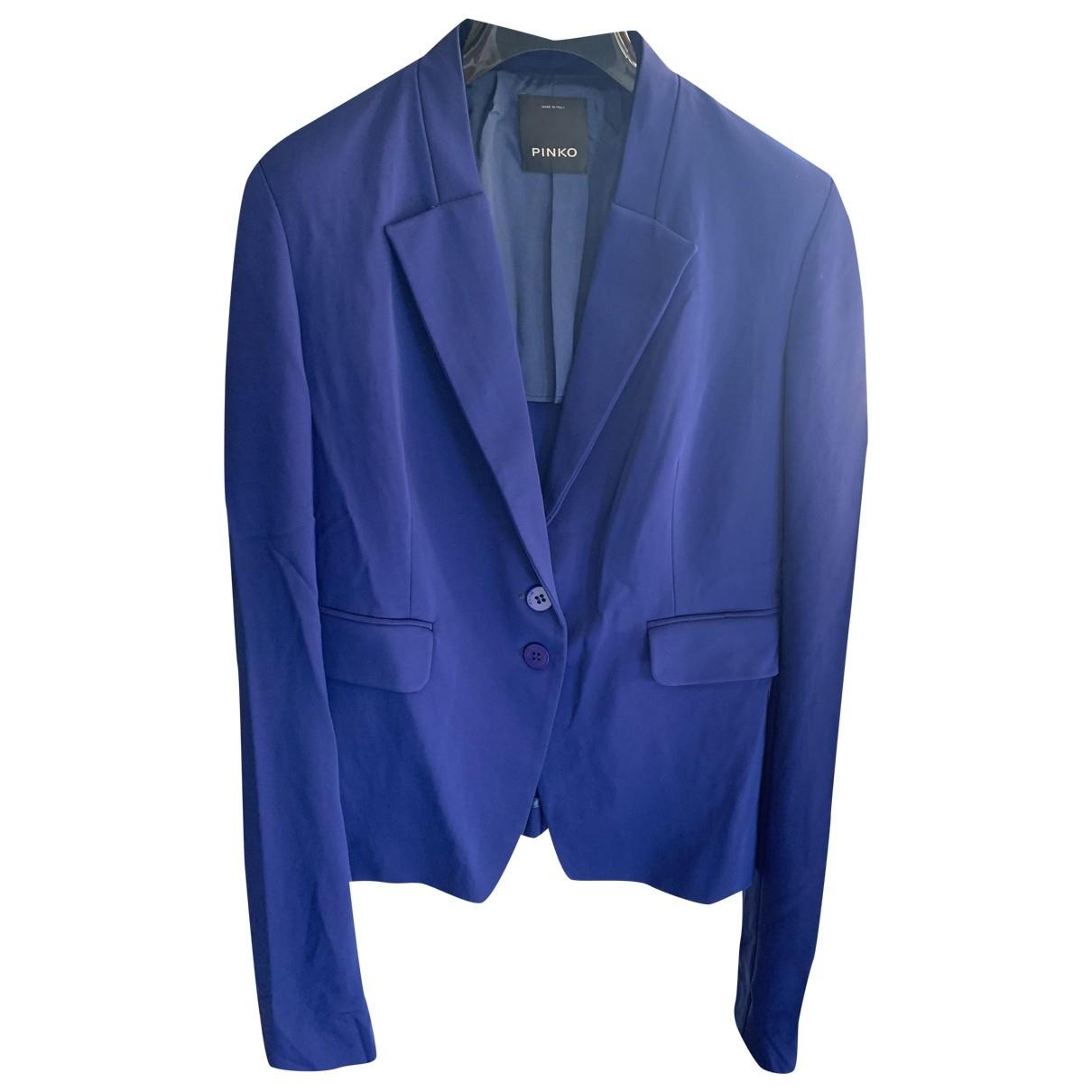 Pinko \N Jacke in  Blau Polyester