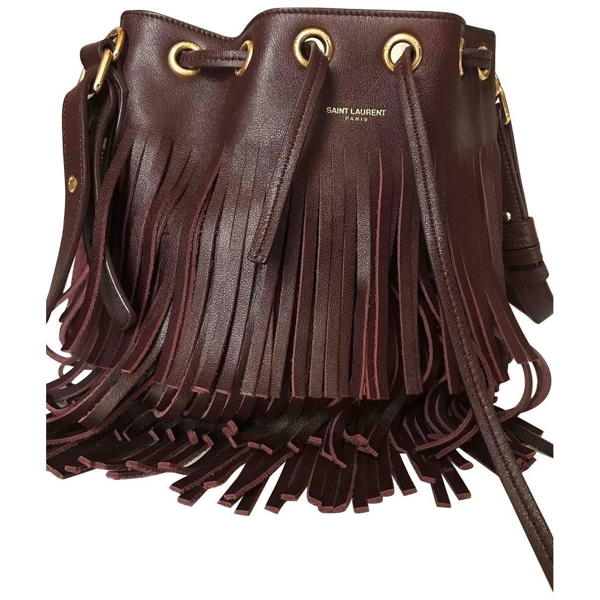 Saint Laurent Emmanuelle Burgundy Leather handbag for Women \N