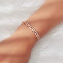 Rhinestone Decor Adjustable Bracelet
