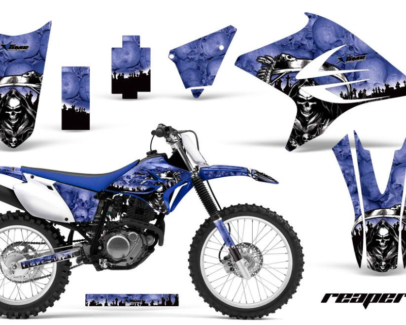 AMR Racing Dirt Bike Decal Graphics Kit Sticker Wrap For Yamaha TTR230 2005-2018áREAPER BLUE