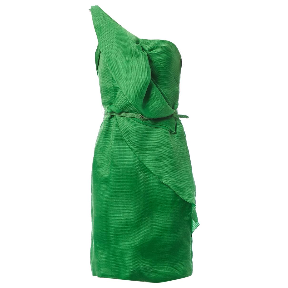 Oscar De La Renta \N Kleid in  Gruen Seide
