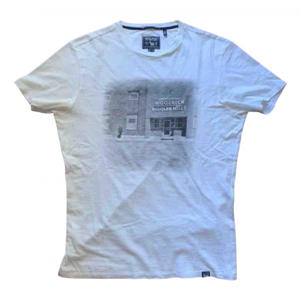 Woolrich - Tee shirts   pour homme en coton - blanc