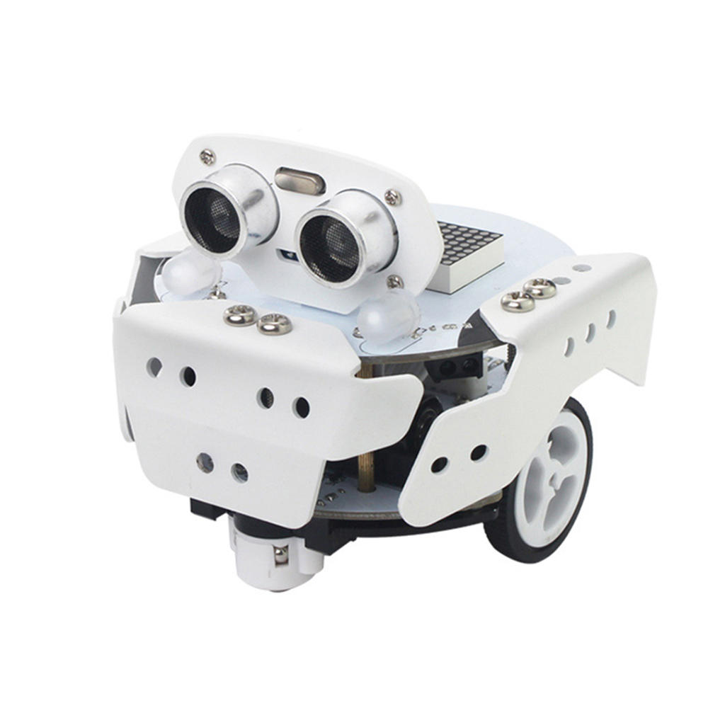 LOBOT Qbot Pro DIY Scratch3.0 Programmable Multifunctional Tracking Avoidance APP Smart RC Robot Car Compatible With