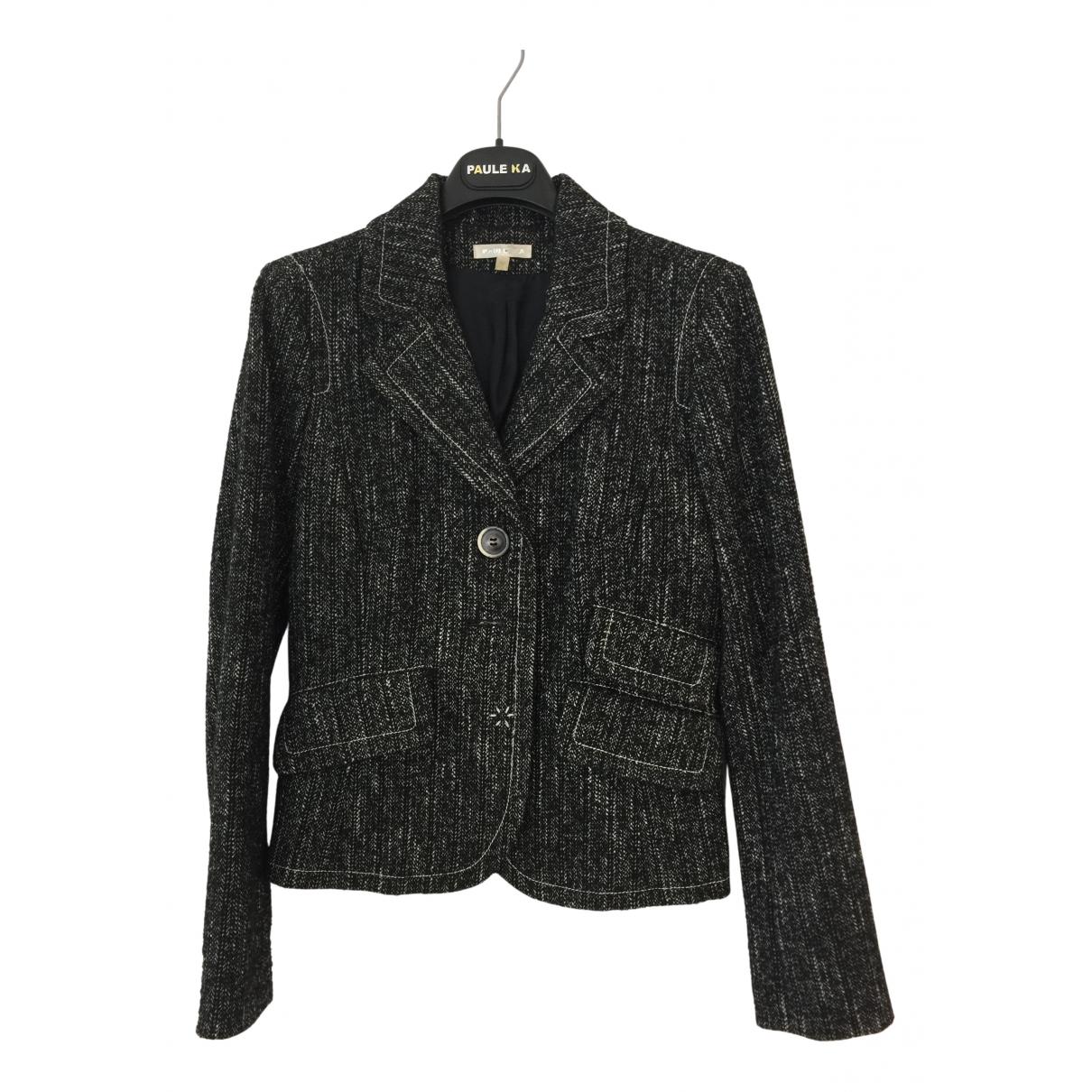 Paule Ka - Veste   pour femme en laine - gris