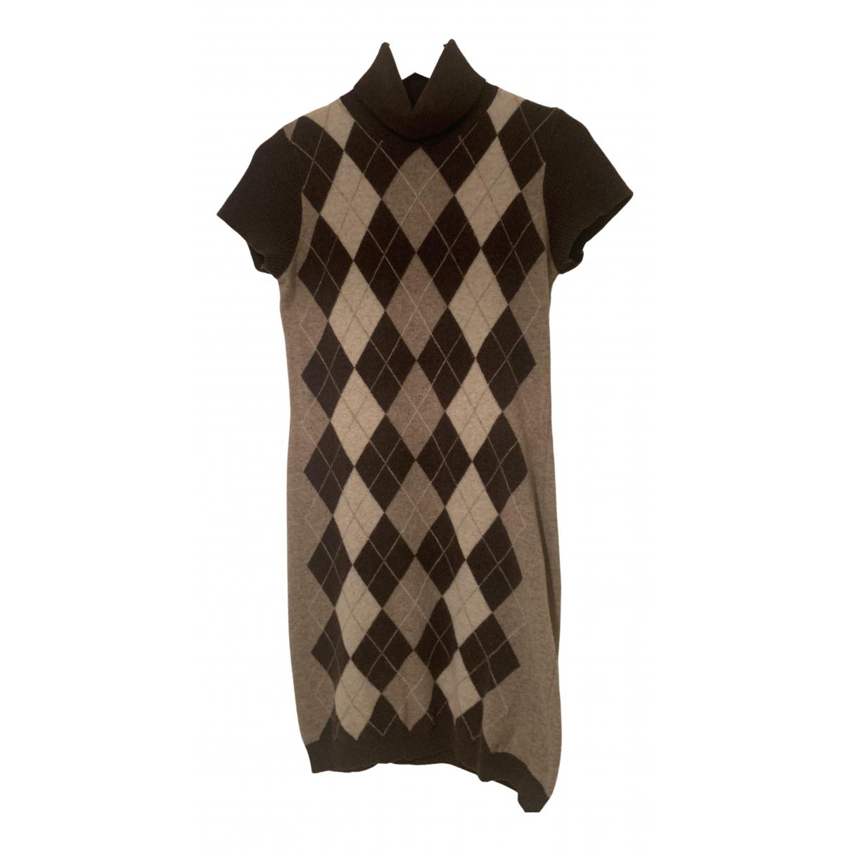Benetton - Robe   pour femme en laine - marron