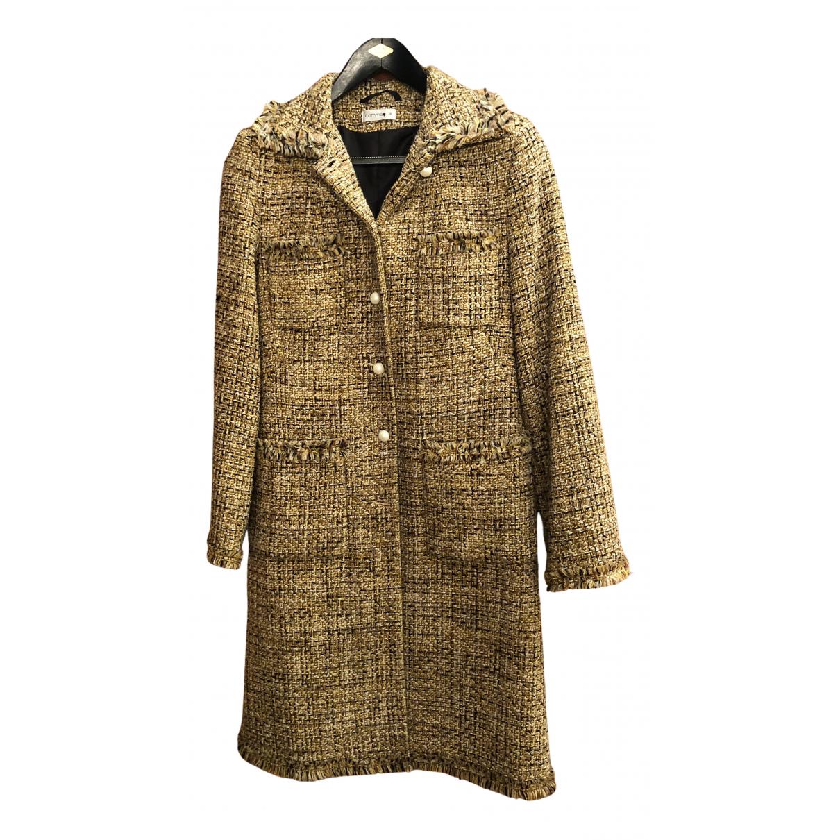Comma N Yellow Tweed coat for Women S International