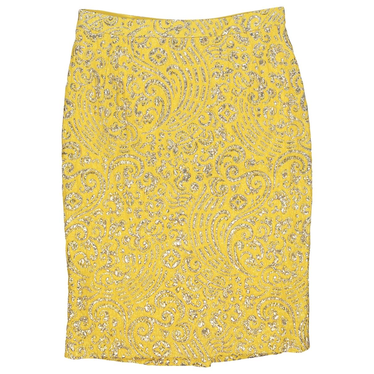 Dolce & Gabbana - Jupe   pour femme en soie - jaune