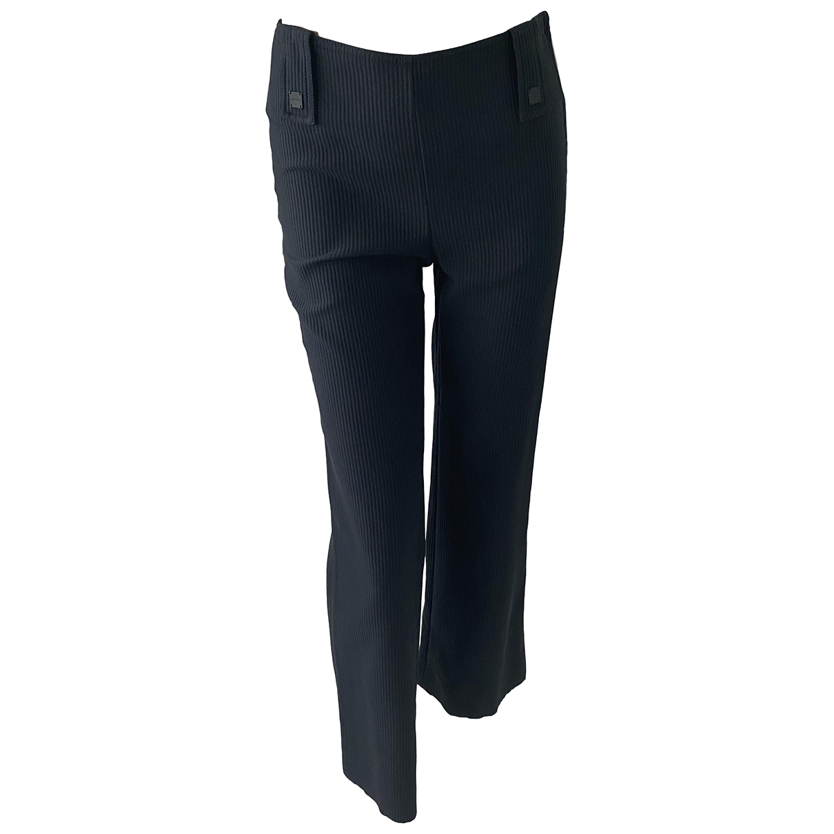 Chanel \N Navy Cotton Trousers for Women 36 IT