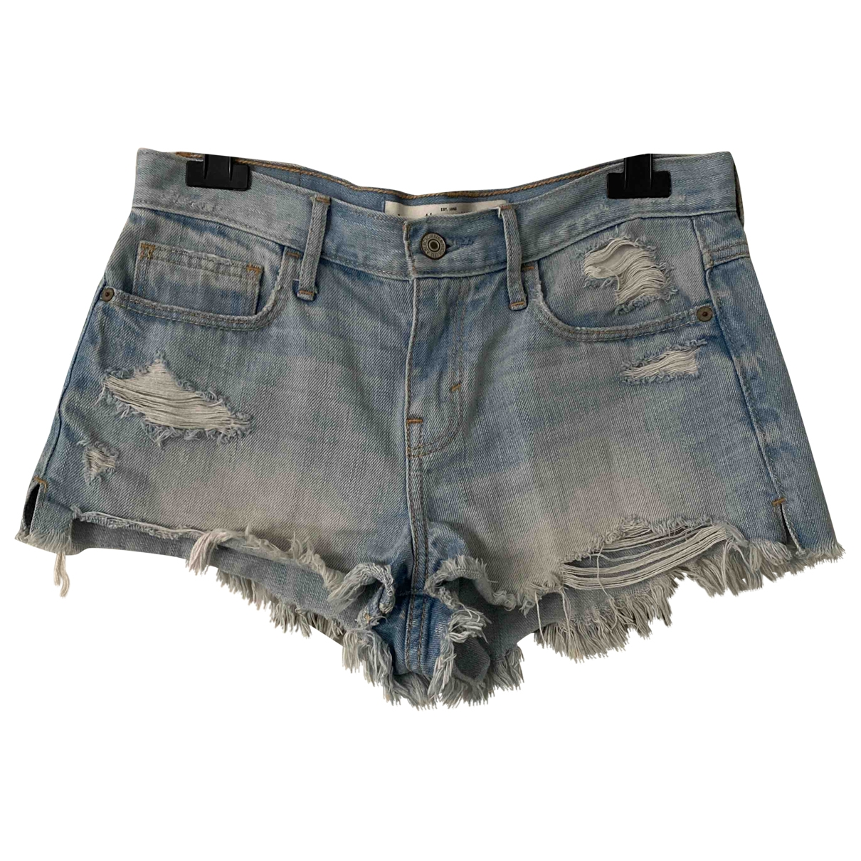 Abercrombie & Fitch \N Shorts in  Blau Denim - Jeans