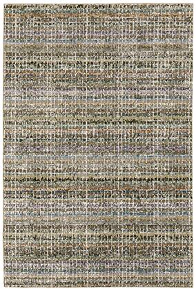 A747A0260370ST 8 6 X 11 7 Rectangle Rug with Abstract Pattern and Nylon/PolyPFiber
