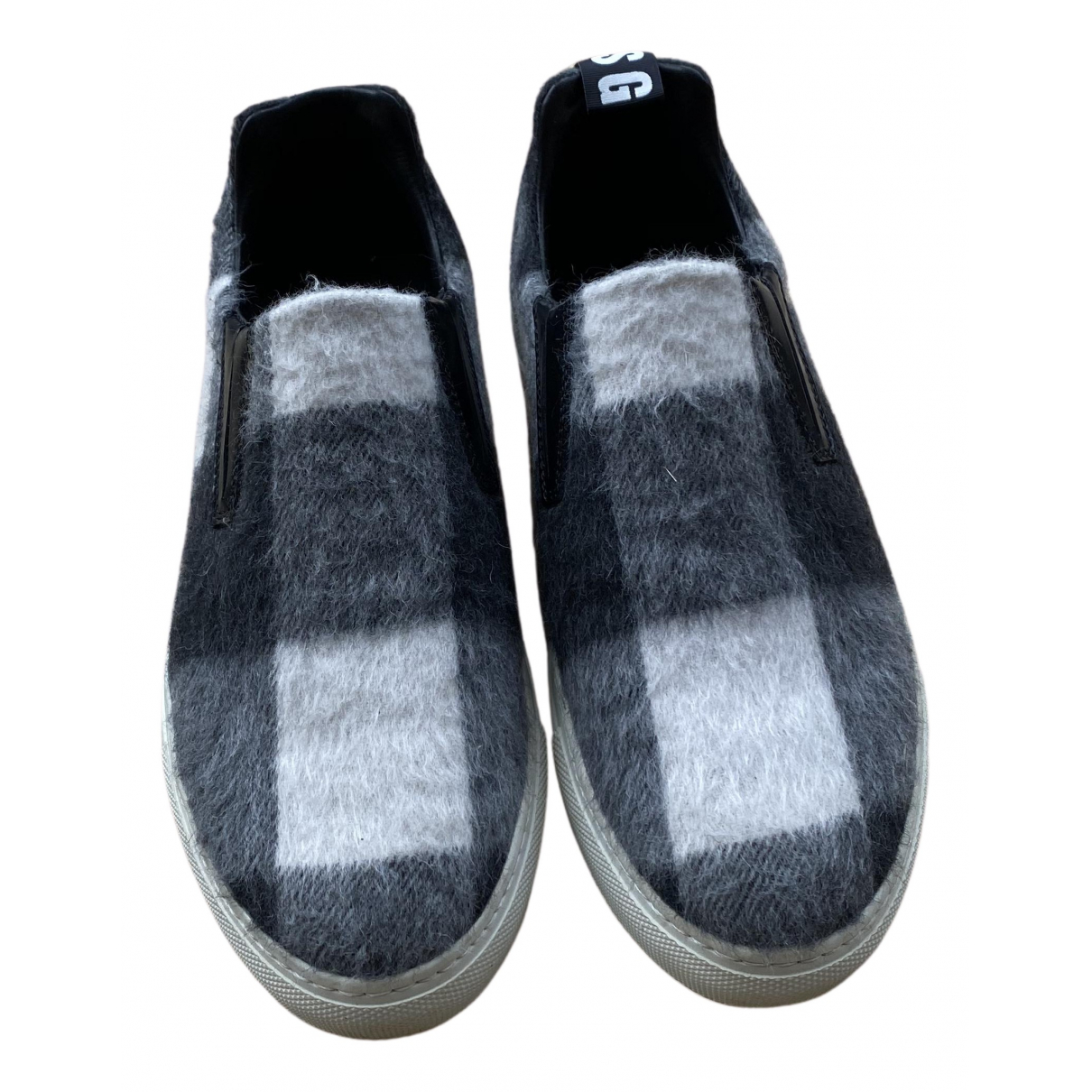 Msgm \N Sneakers in  Anthrazit Lackleder