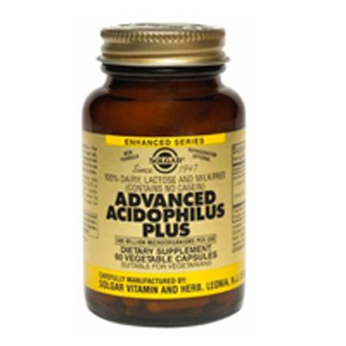 Advanced Acidophilus Plus Vegetable Capsules 120 V Caps by Solgar