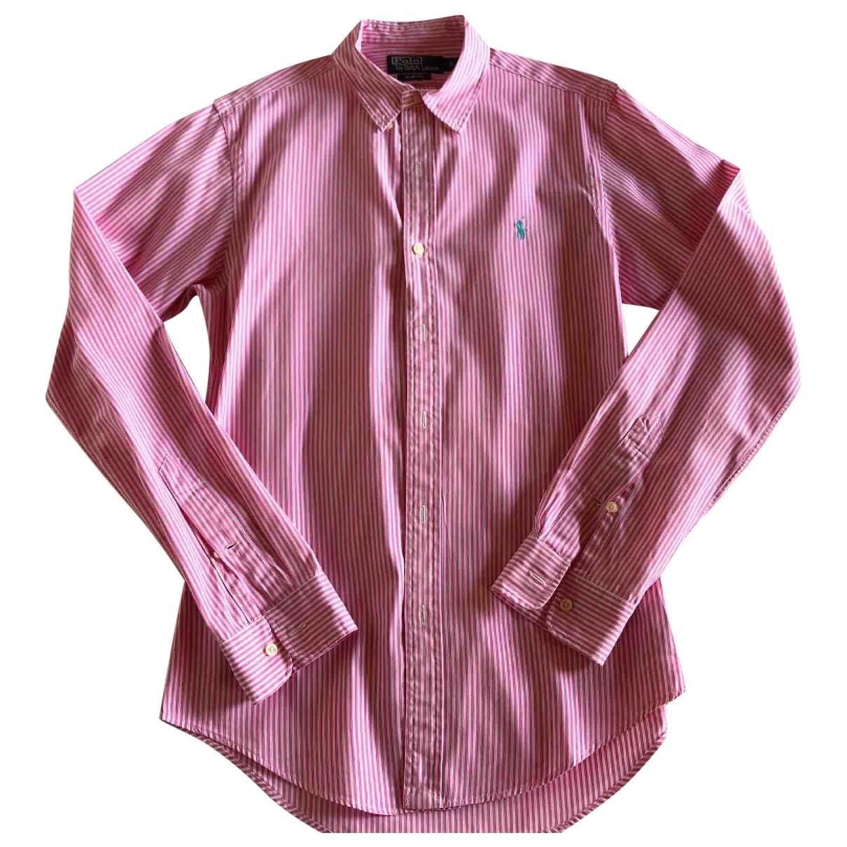Polo Ralph Lauren - Chemises Polo classique manches longues pour homme en coton - rose