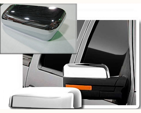 Quality Automotive Accessories Chrome Plated ABS Plastic 2-Piece Mirror Cover Set | Top Ford F-150 2010