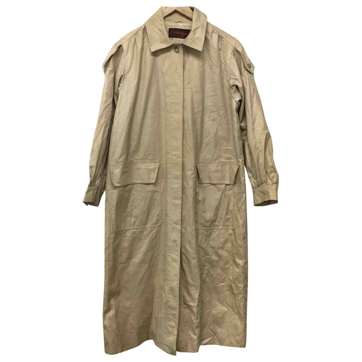 Yves Saint Laurent \N Trench in  Beige Baumwolle