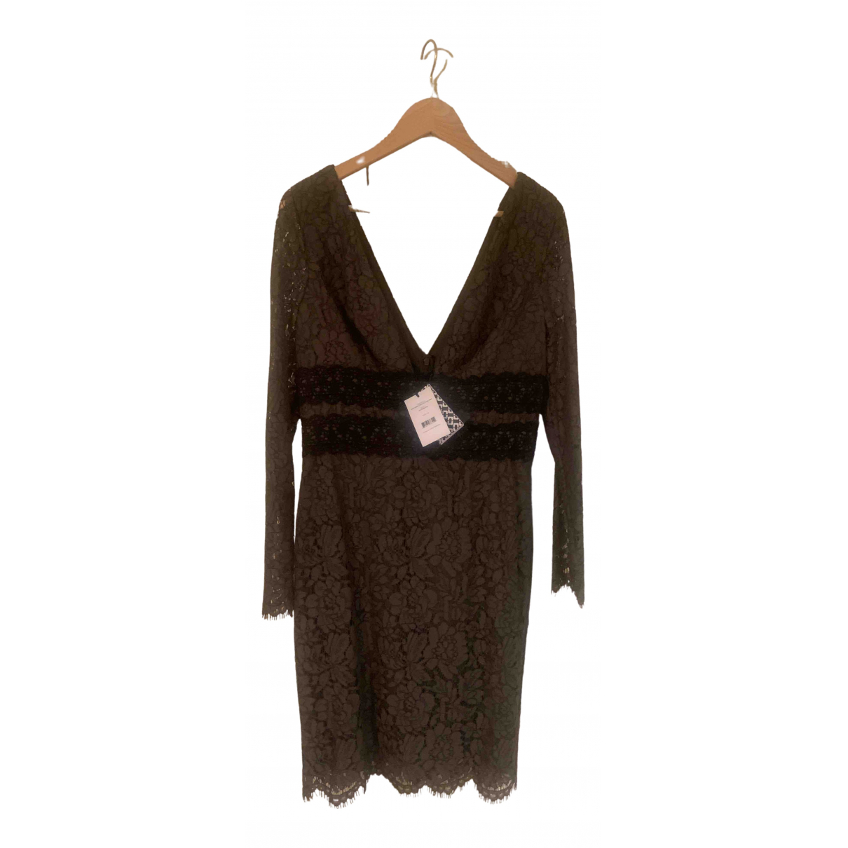Diane Von Furstenberg \N Khaki Lace dress for Women 10 US
