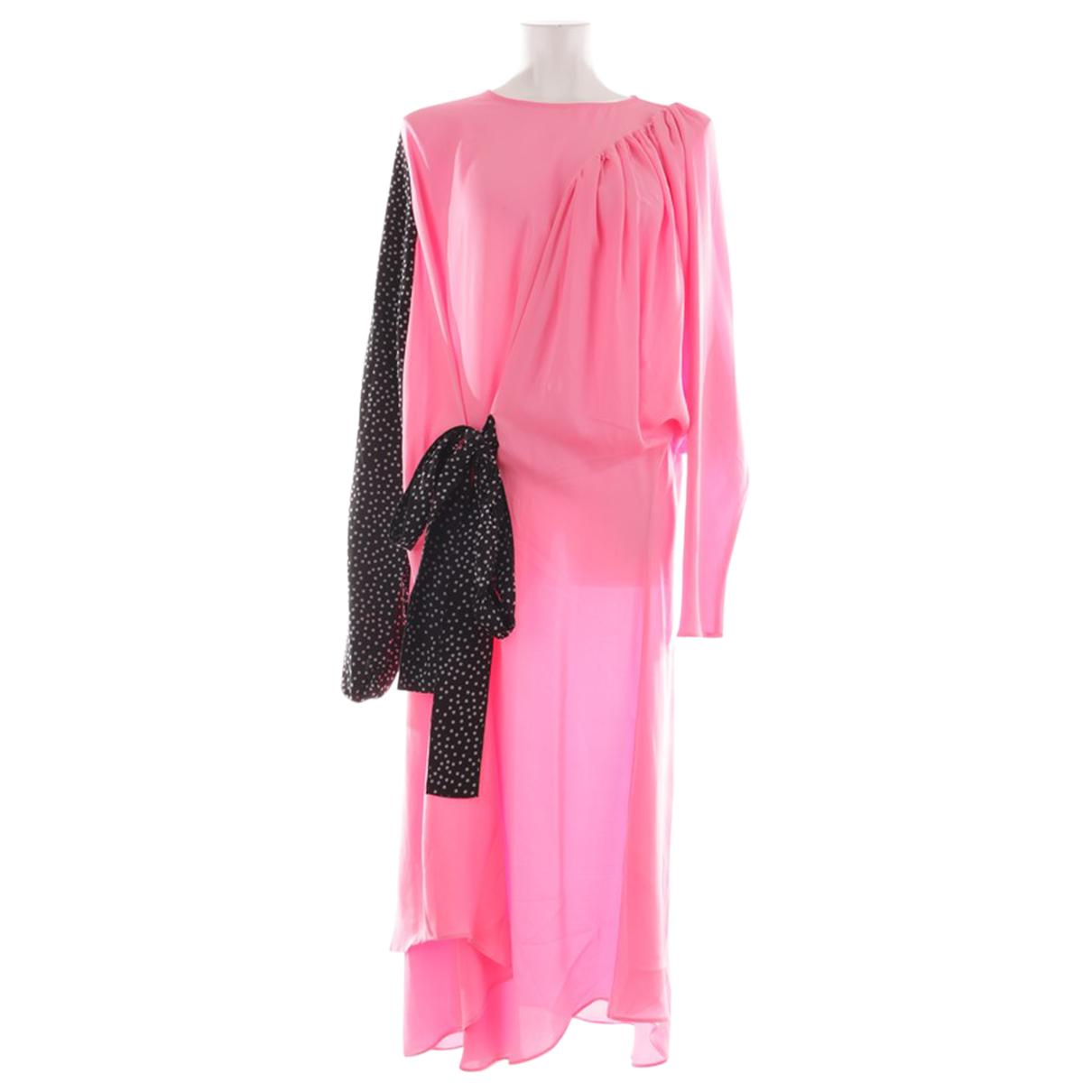 J.w. Anderson \N Kleid in  Rot Seide