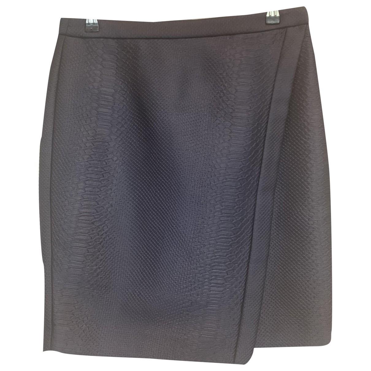 Emporio Armani \N Blue Silk skirt for Women 42 IT