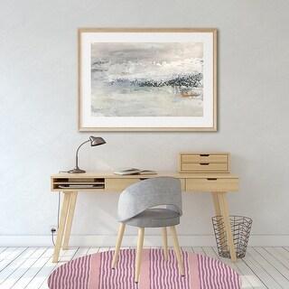 ZEN STRIPE BLOCK PRINT Office Mat By Kavka Designs (Pink, Purple)