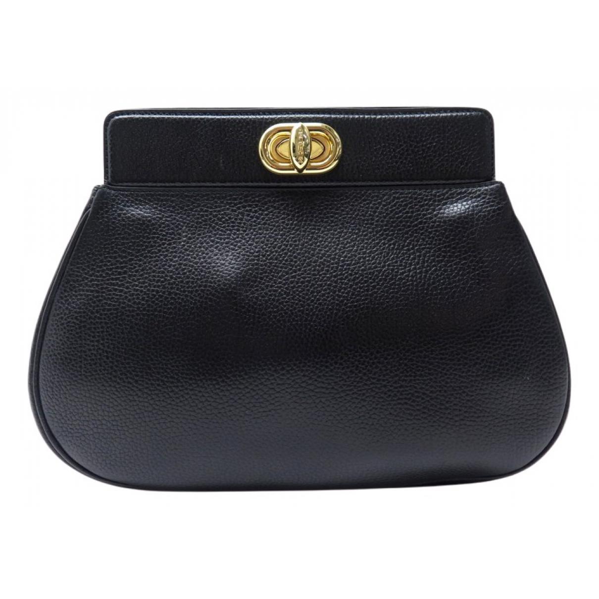 Delvaux - Pochette   pour femme en cuir - noir