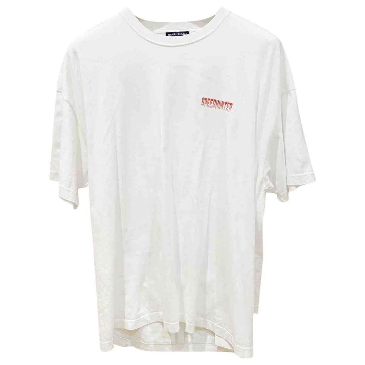 Balenciaga N White Cotton T-shirts for Men XS International
