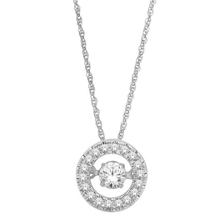 Love in Motion ¼ CT. T.W. Round Diamond Pendant Necklace, One Size , No Color Family