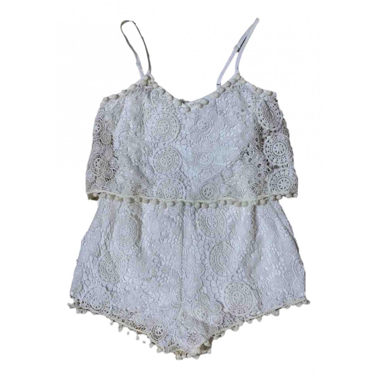 Tularosa - Combinaison   pour femme en coton - blanc