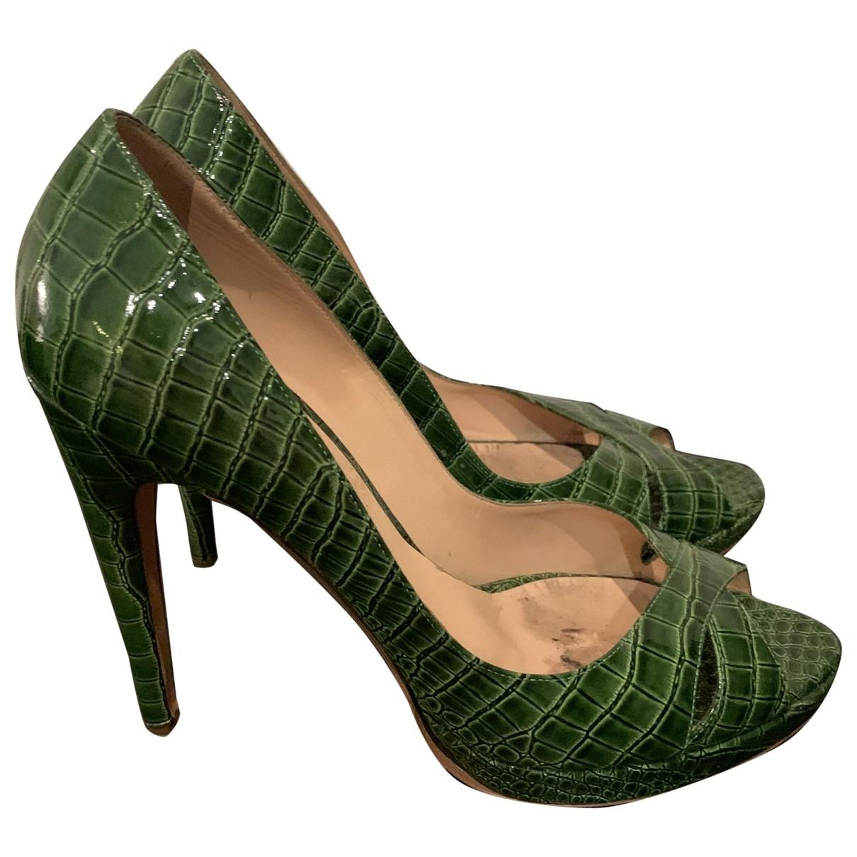 Casadei - Escarpins   pour femme en cuir - vert