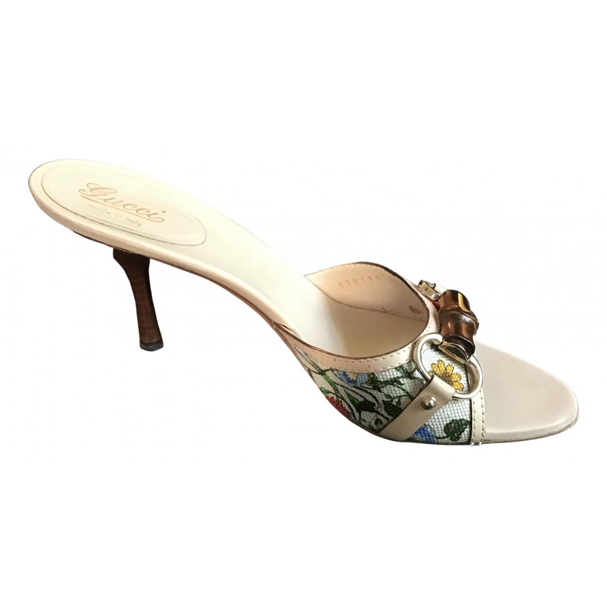 Gucci - Sandales   pour femme en toile - blanc